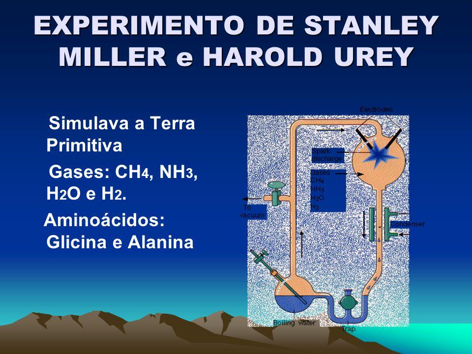 EXPERIMENTO DE STANLEY MILLER e HAROLD UREY