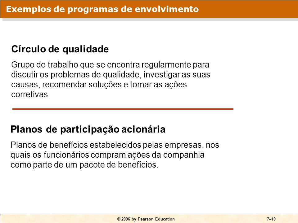 Programas de envolvimento dos funcionários