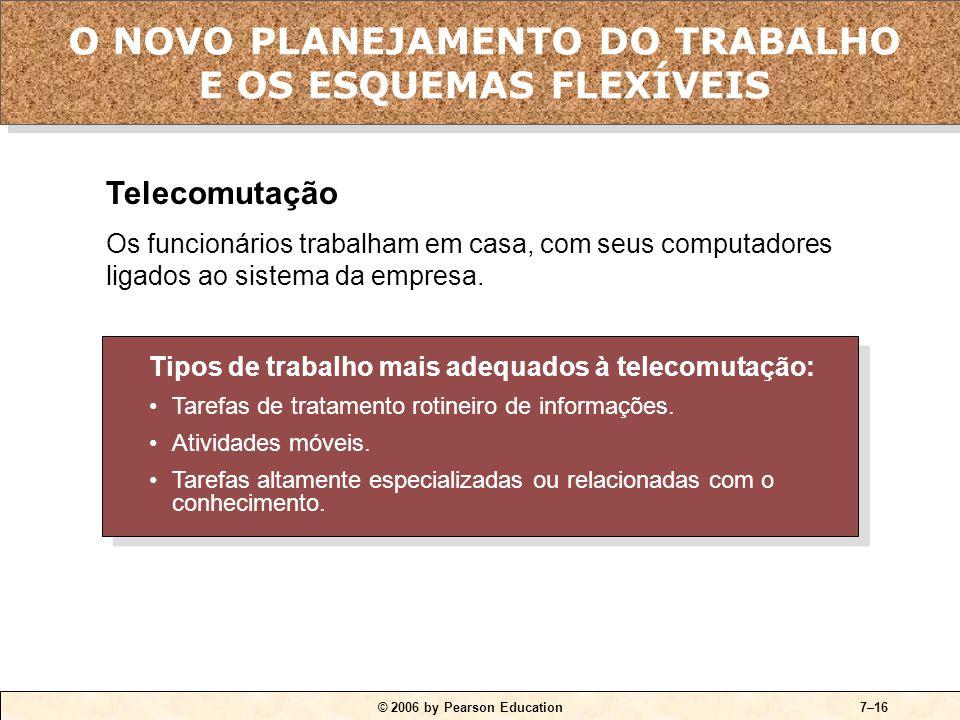 O NOVO PLANEJAMENTO DO TRABALHO E OS ESQUEMAS FLEXÍVEIS