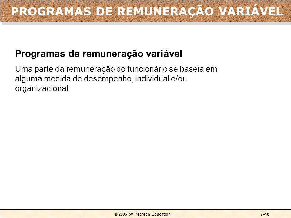 PROGRAMAS DE REMUNERAÇÃO VARIÁVEL