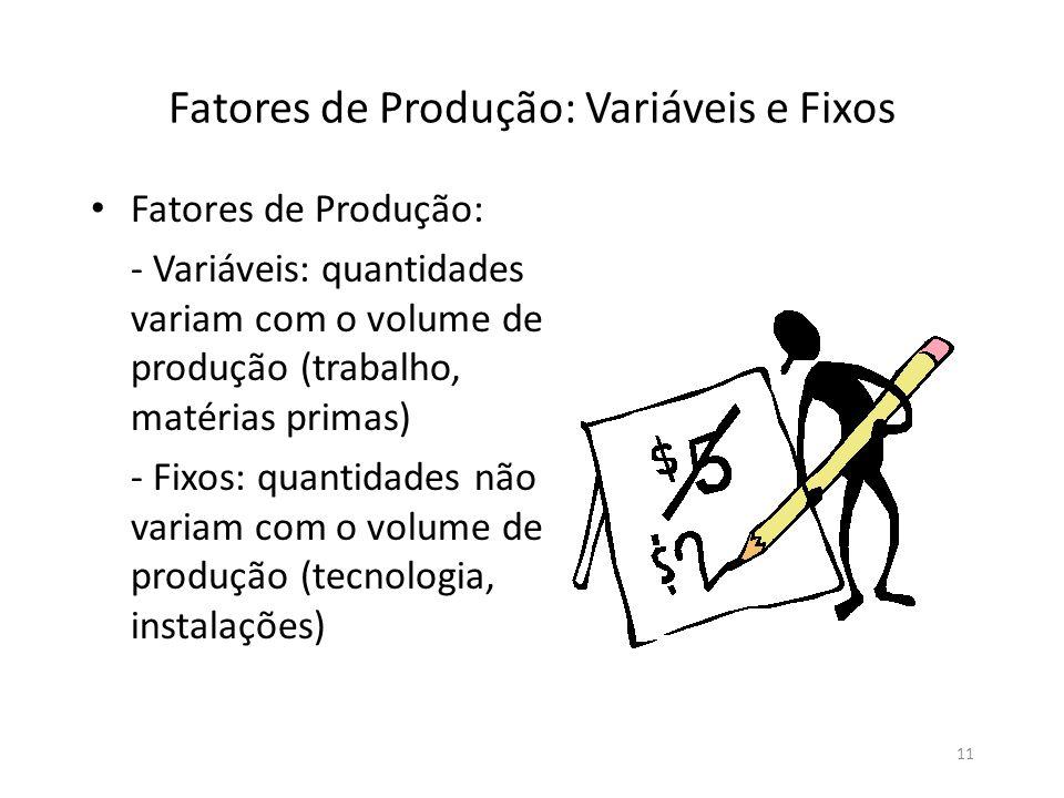 Fatores de Produção: Variáveis e Fixos