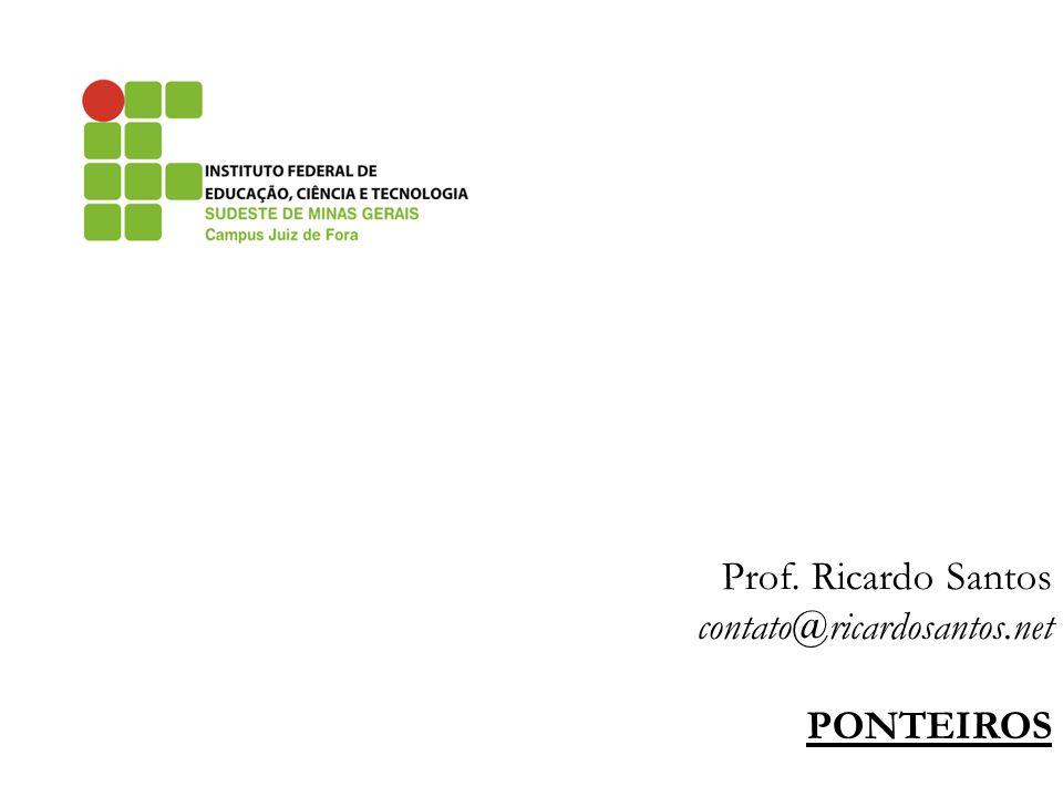 Prof. Ricardo Santos contato@ricardosantos.net PONTEIROS