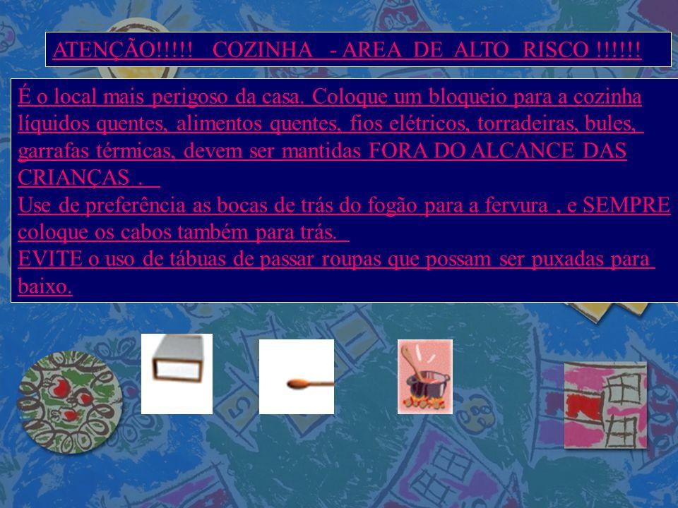ATENÇÃO!!!!! COZINHA - AREA DE ALTO RISCO !!!!!!