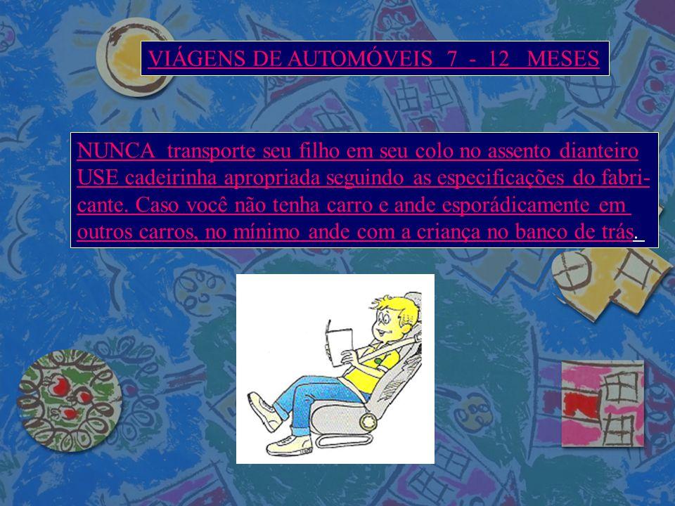 VIÁGENS DE AUTOMÓVEIS 7 - 12 MESES