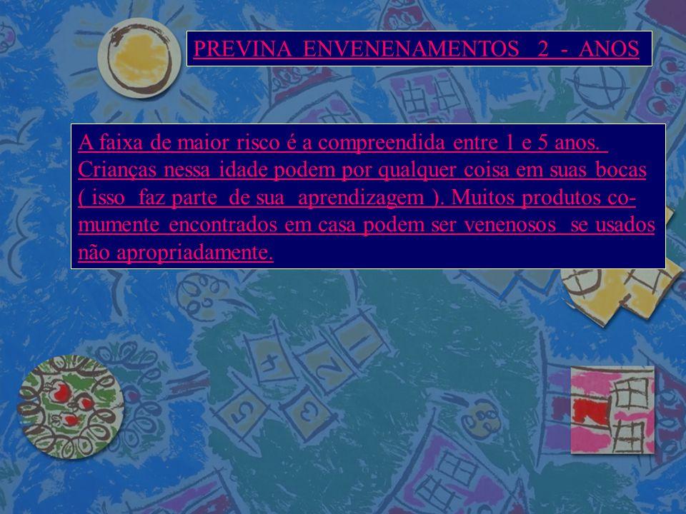 PREVINA ENVENENAMENTOS 2 - ANOS