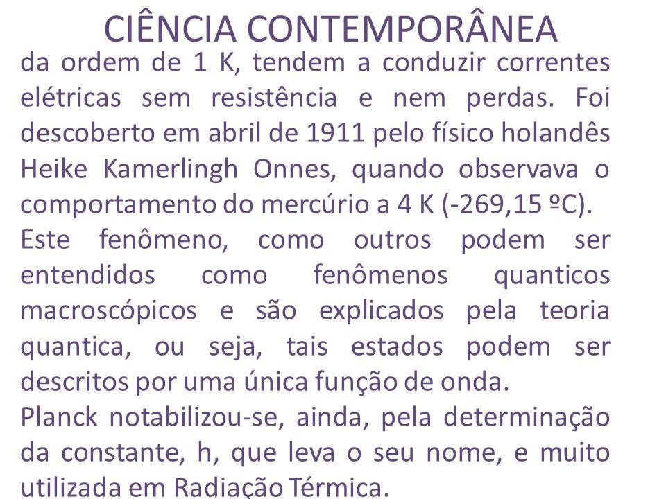 CIÊNCIA CONTEMPORÂNEA