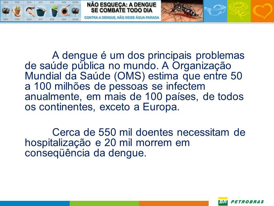 A dengue é um dos principais problemas de saúde pública no mundo