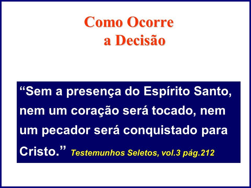 Como Ocorre a Decisão Sem a presença do Espírito Santo,