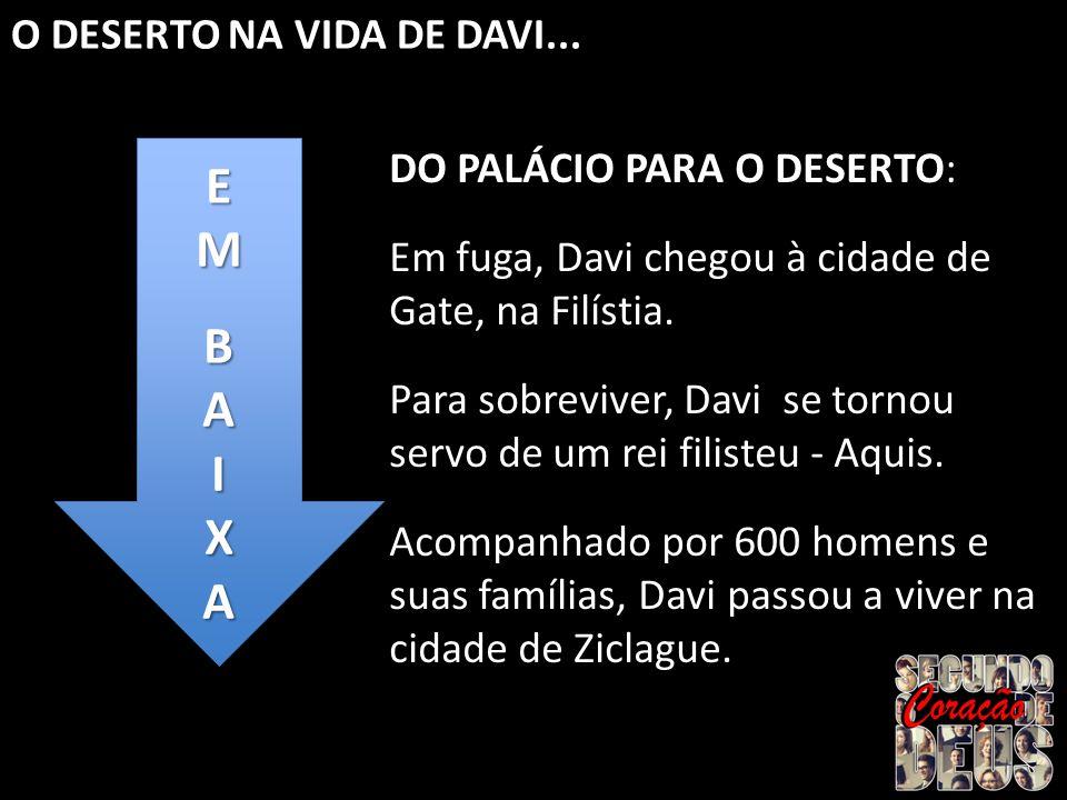 E M B A I X O DESERTO NA VIDA DE DAVI... DO PALÁCIO PARA O DESERTO: