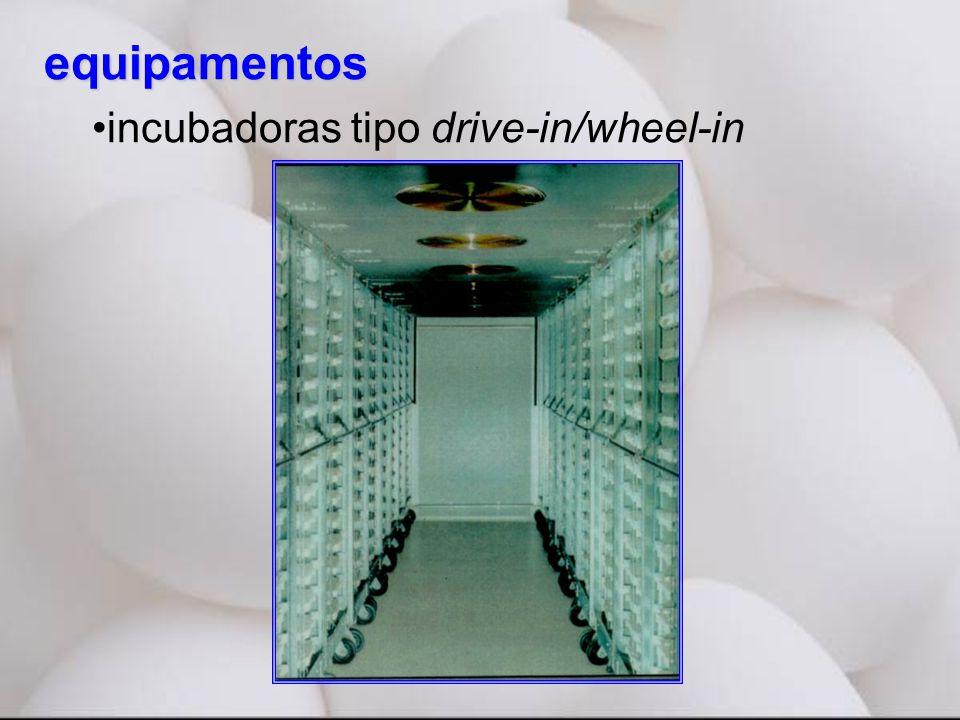 equipamentos incubadoras tipo drive-in/wheel-in
