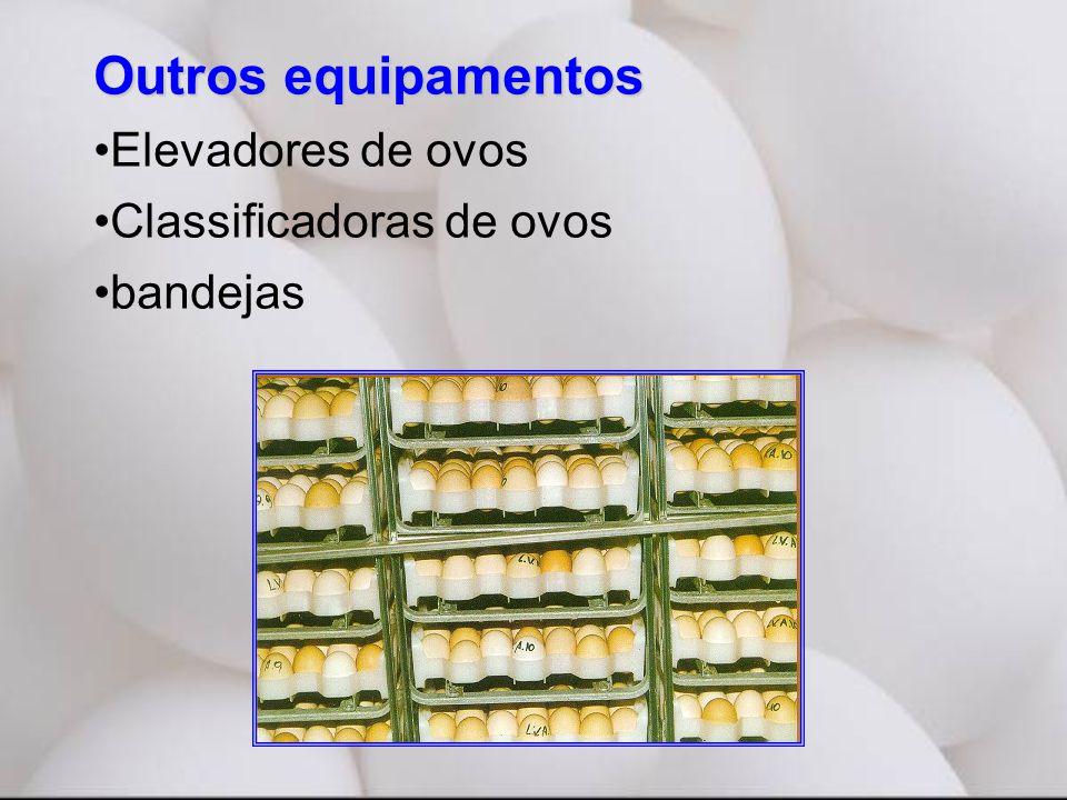 Outros equipamentos Elevadores de ovos Classificadoras de ovos