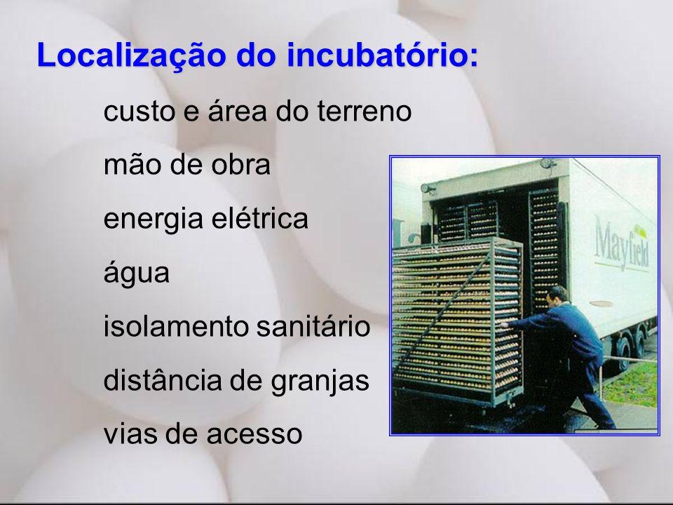 Localização do incubatório: