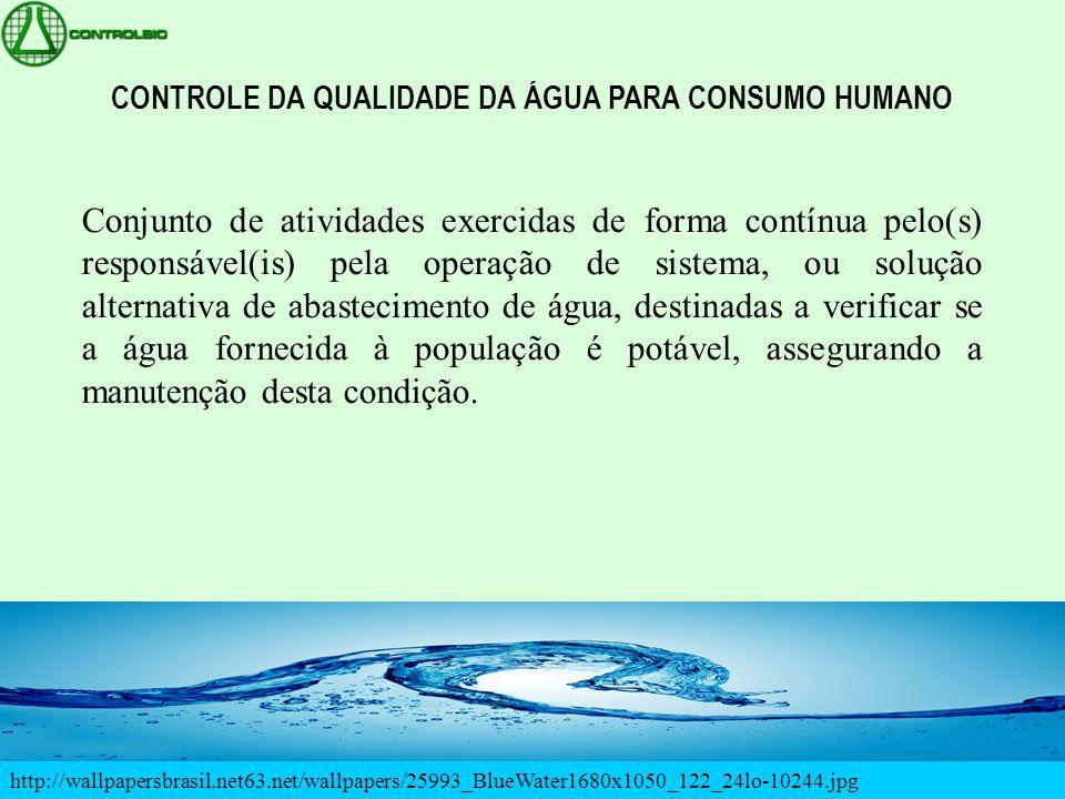 CONTROLE DA QUALIDADE DA ÁGUA PARA CONSUMO HUMANO