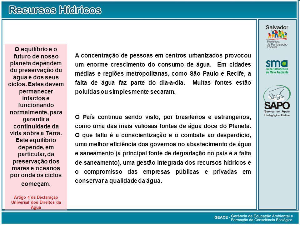 Artigo 4 da Declaração Universal dos Direitos da Água