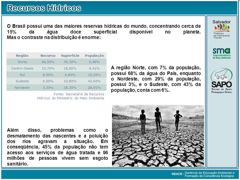 Consumo da Água (cont.)