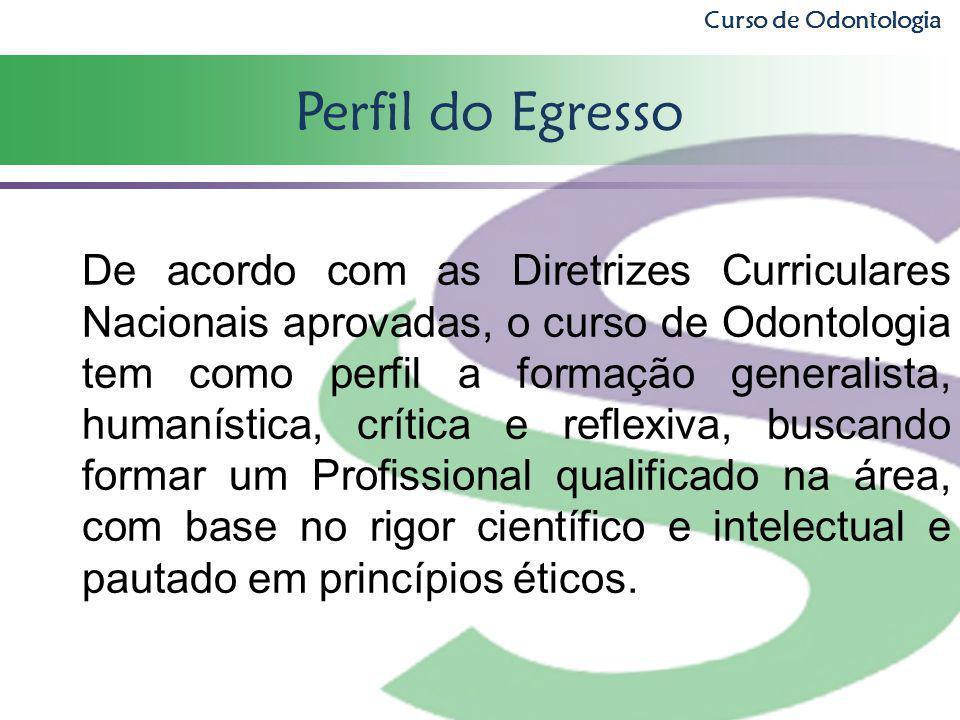 Curso de Odontologia Perfil do Egresso.