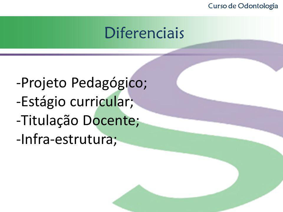 Diferenciais Projeto Pedagógico; Estágio curricular;