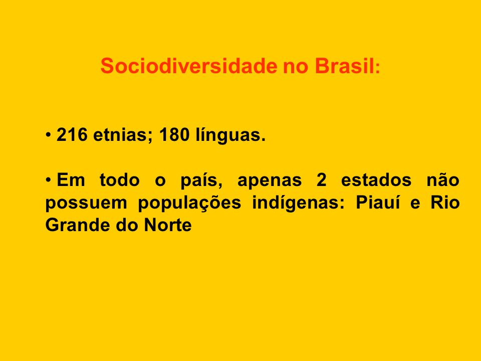 Sociodiversidade no Brasil: