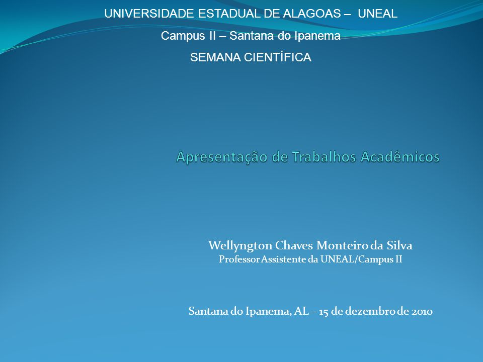 Apresentação de Trabalhos Acadêmicos
