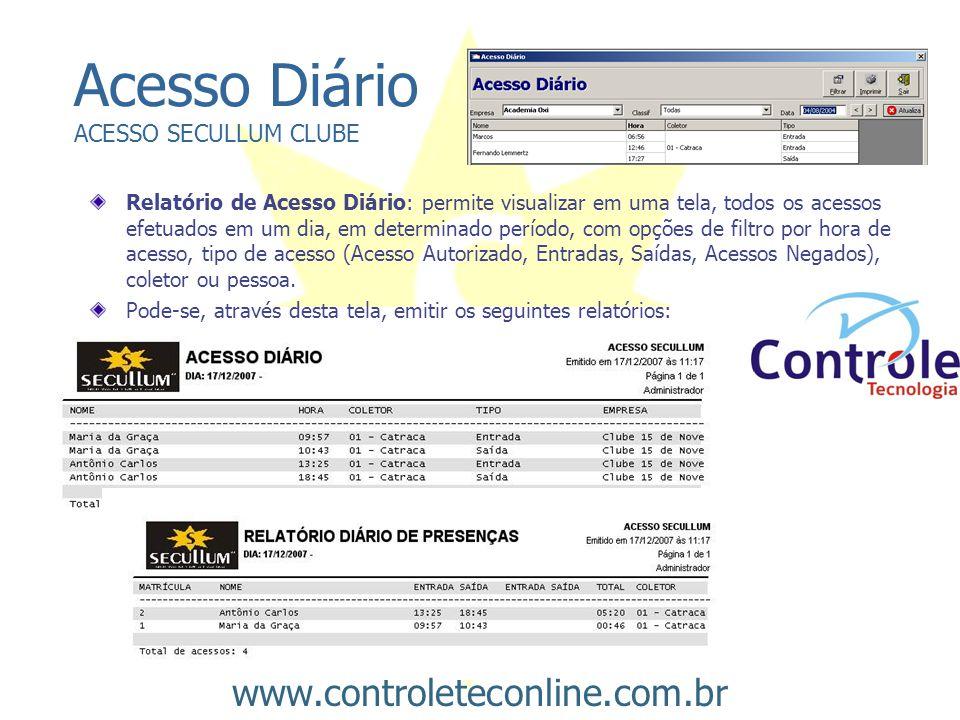 Acesso Diário ACESSO SECULLUM CLUBE