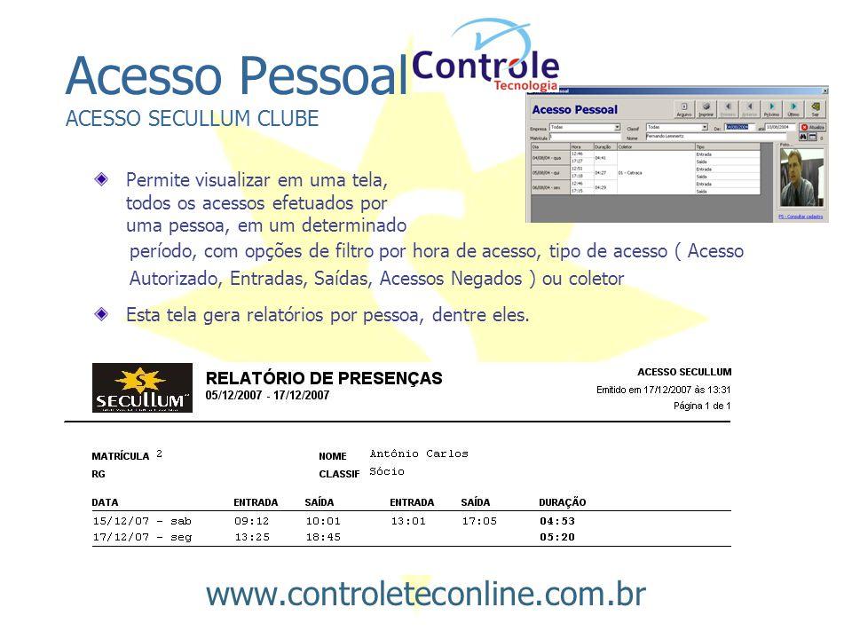 Acesso Pessoal ACESSO SECULLUM CLUBE