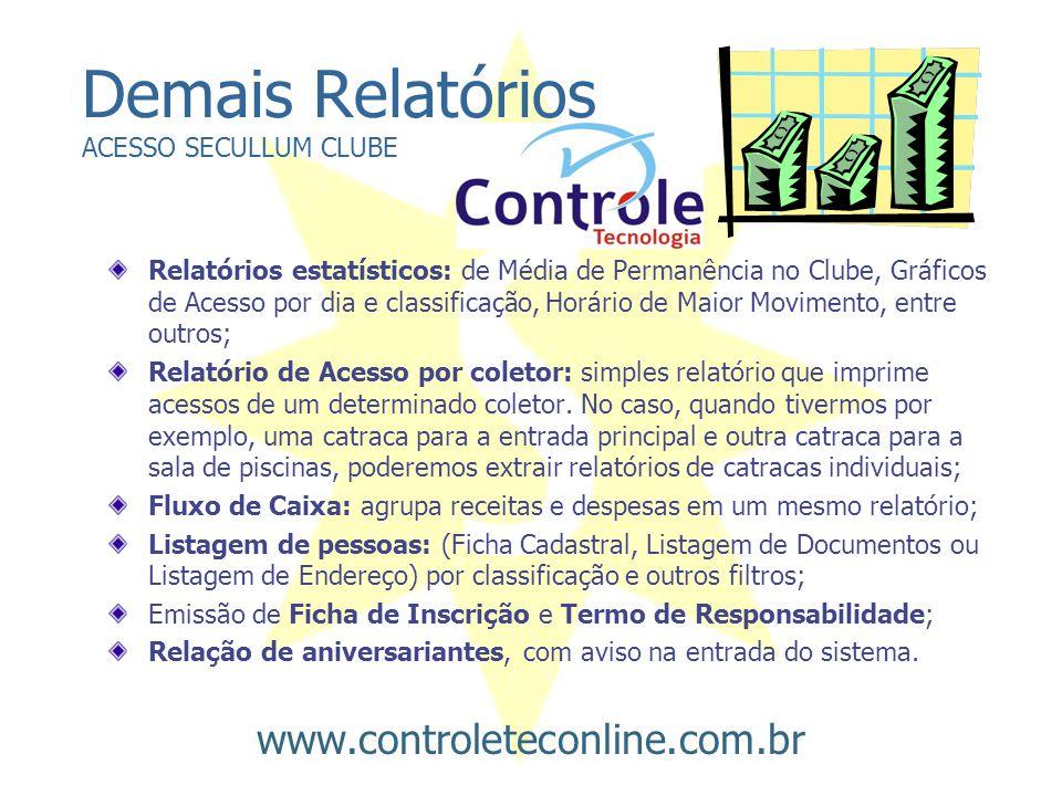 Demais Relatórios ACESSO SECULLUM CLUBE