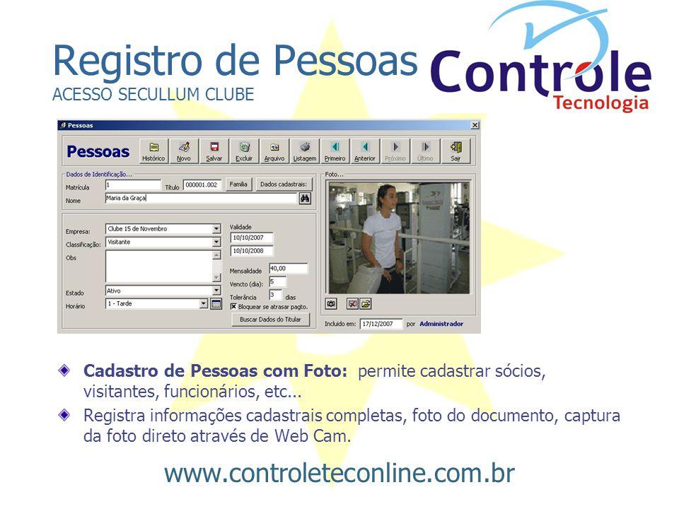Registro de Pessoas ACESSO SECULLUM CLUBE