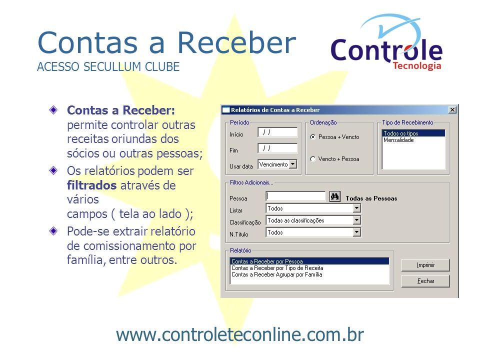 Contas a Receber ACESSO SECULLUM CLUBE