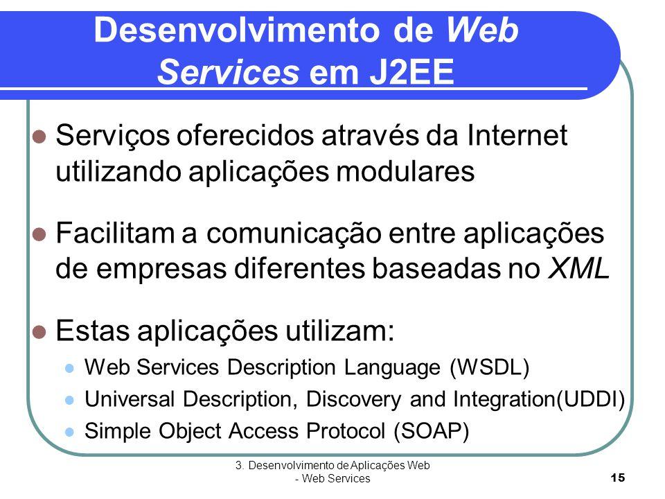 Desenvolvimento de Web Services em J2EE