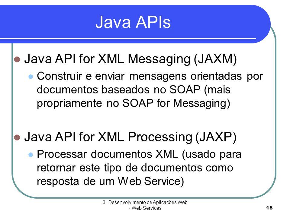 3. Desenvolvimento de Aplicações Web - Web Services