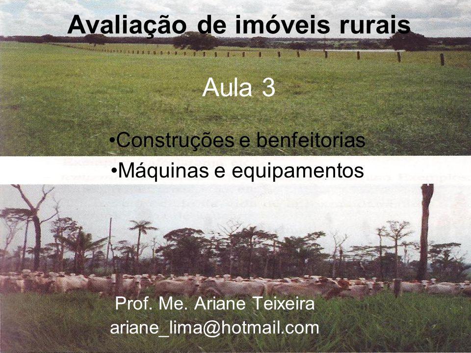 Avaliação de imóveis rurais Aula 3