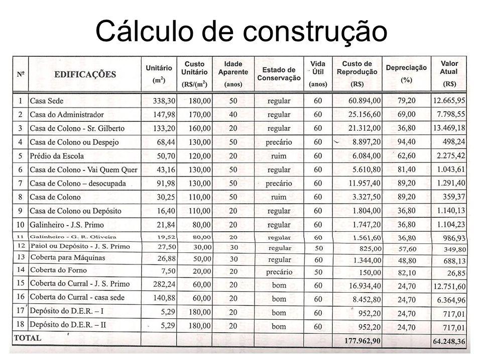 Cálculo de construção