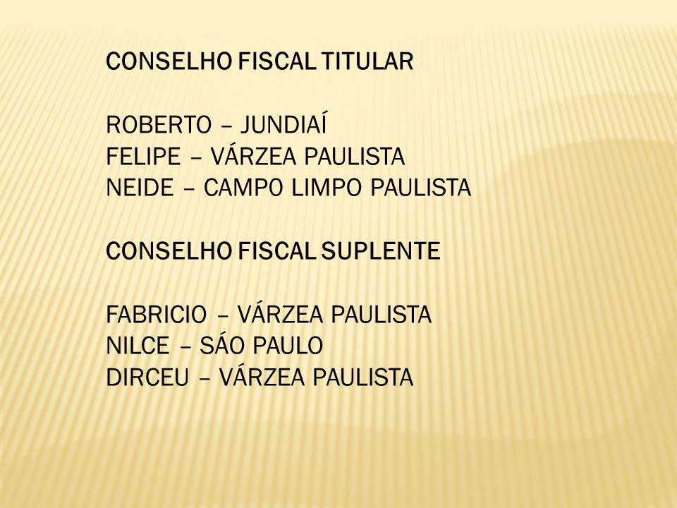 CONSELHO FISCAL TITULAR