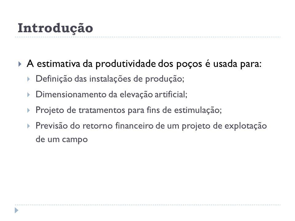 Introdução A estimativa da produtividade dos poços é usada para: