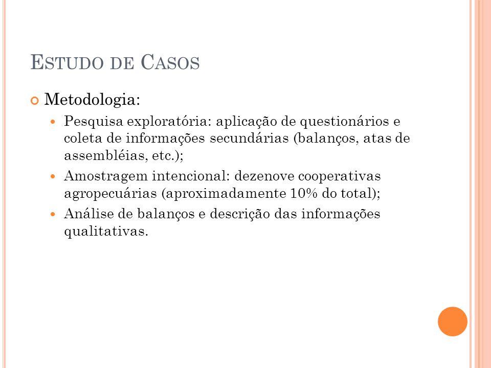 Estudo de Casos Metodologia: