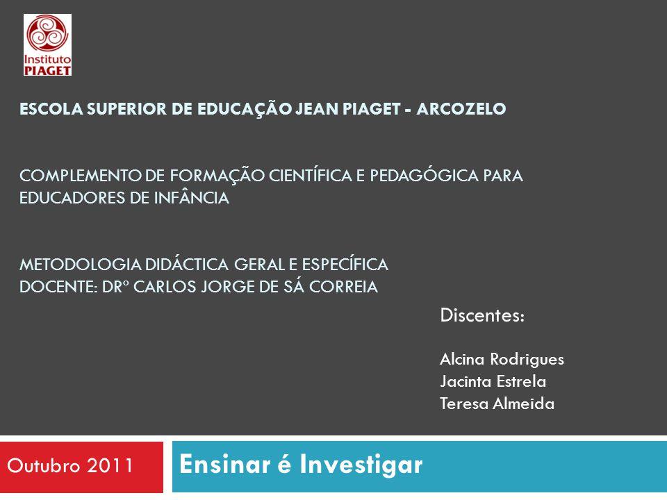 Ensinar é Investigar Discentes: Outubro 2011