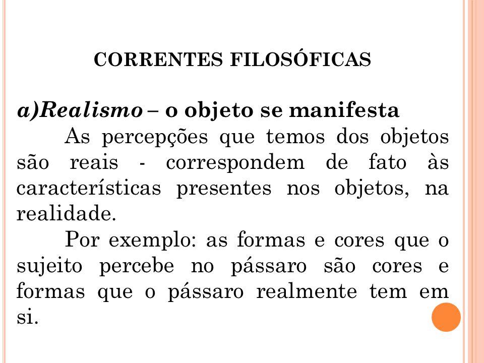 CORRENTES FILOSÓFICAS