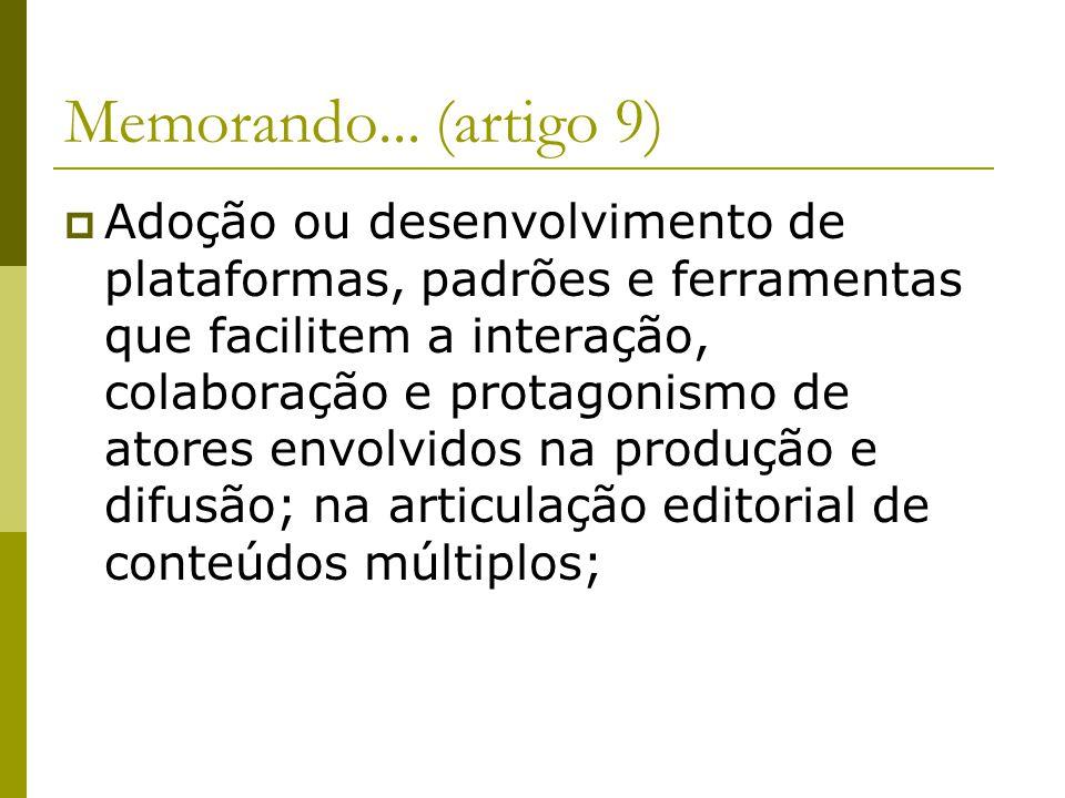 Memorando... (artigo 9)