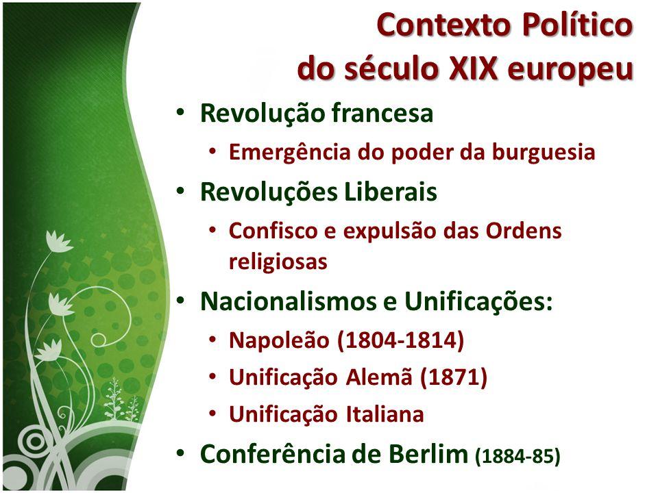 Contexto Político do século XIX europeu