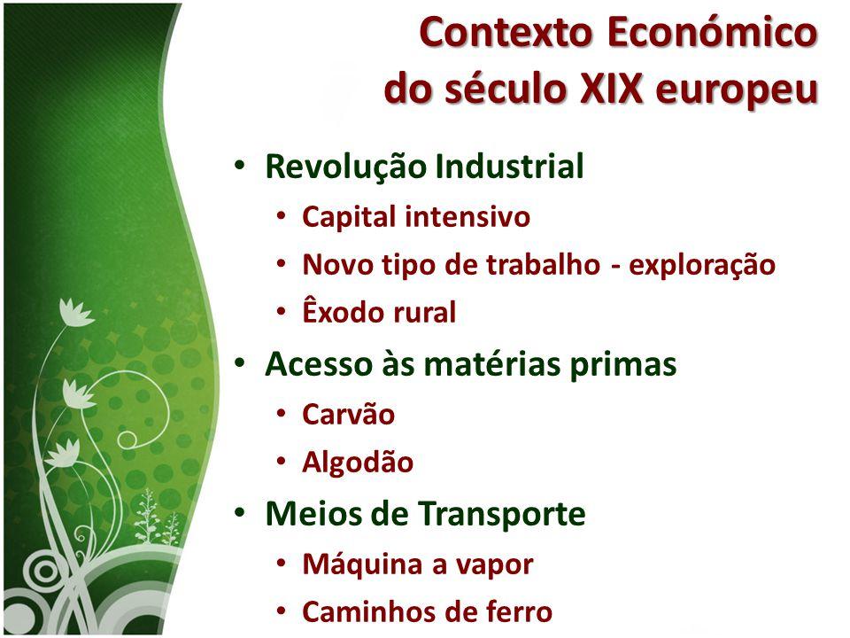 Contexto Económico do século XIX europeu