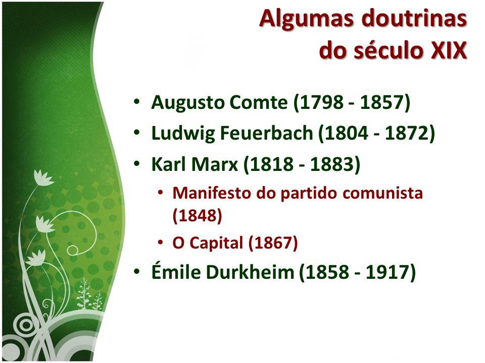 Algumas doutrinas do século XIX