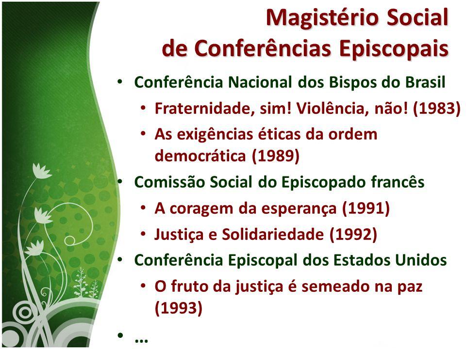 Magistério Social de Conferências Episcopais