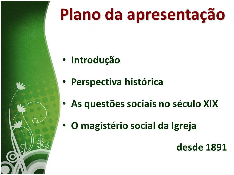 Plano da apresentação Introdução Perspectiva histórica