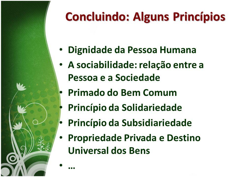 Concluindo: Alguns Princípios