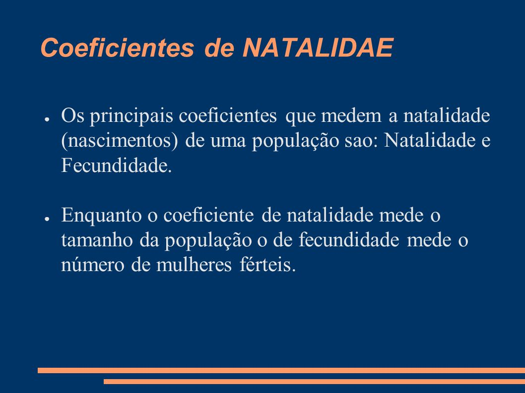 Coeficientes de NATALIDAE