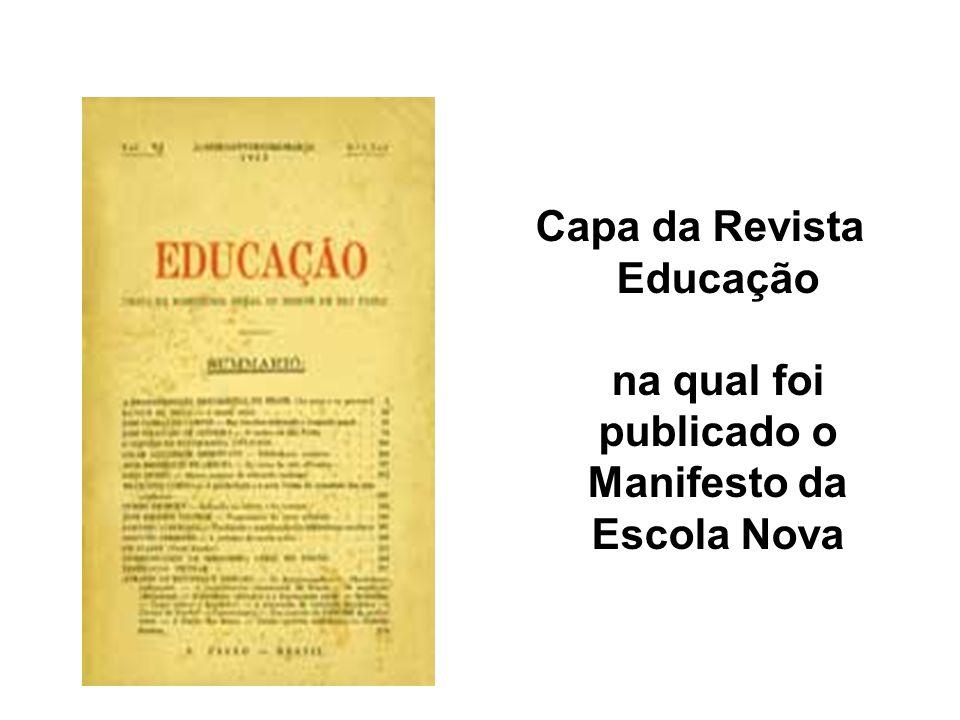 Capa da Revista Educação na qual foi publicado o Manifesto da Escola Nova