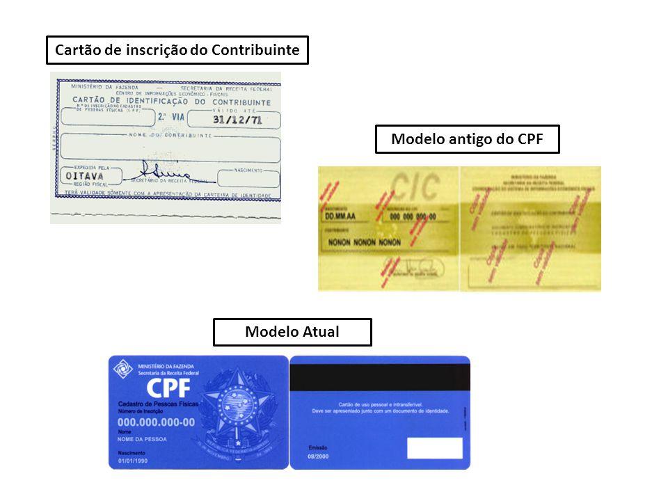 Cartão de inscrição do Contribuinte
