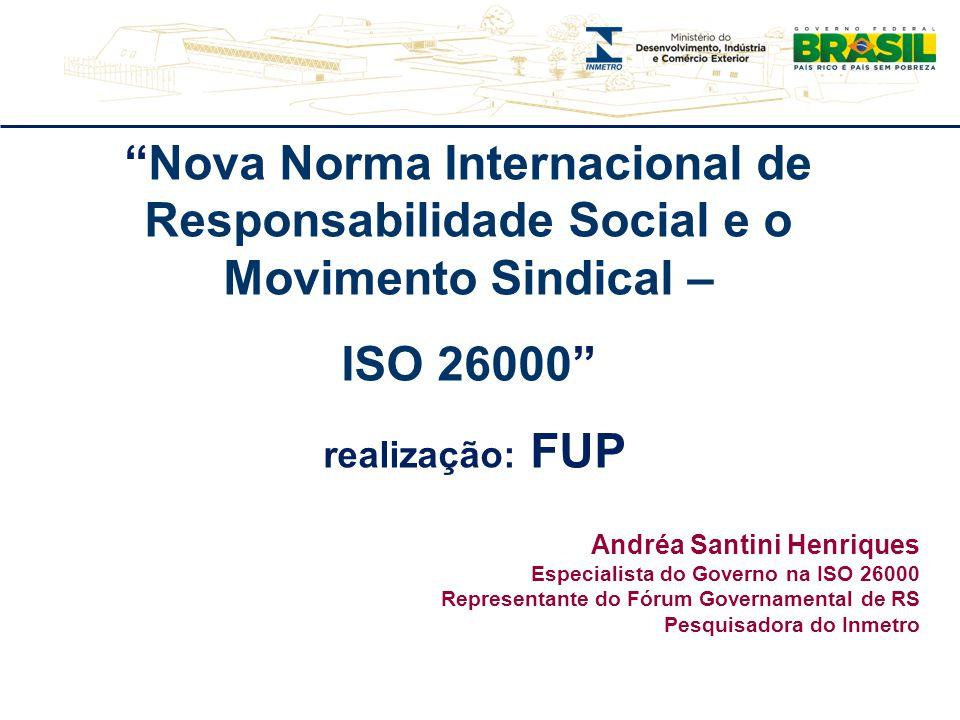Nova Norma Internacional de Responsabilidade Social e o Movimento Sindical –