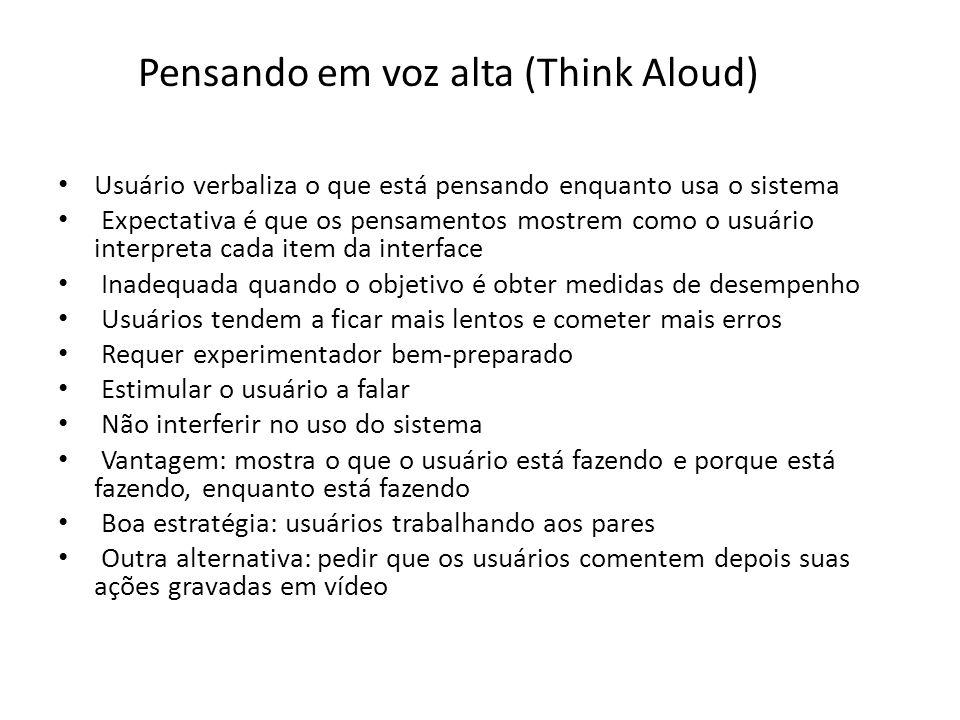 Pensando em voz alta (Think Aloud)