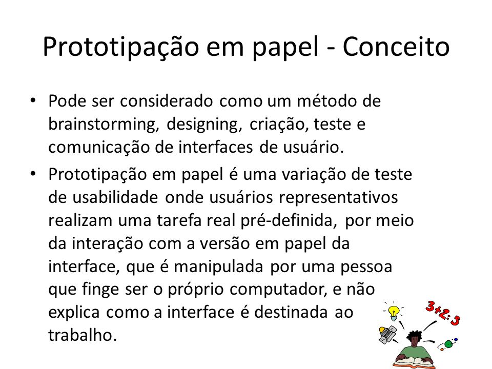 Prototipação em papel - Conceito